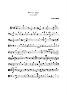 Falstaff. Symphonic Study, Op.68: parte de trombones e tubas by Edward Elgar