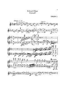 Falstaff. Symphonic Study, Op.68: violino parte I by Edward Elgar