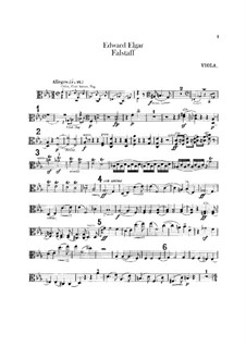 Falstaff. Symphonic Study, Op.68: parte viola by Edward Elgar
