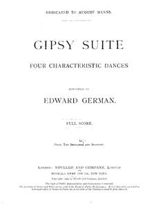 Gipsy Suite: para orquetra by Edward German