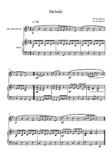 No.1 Melodie (Melody): para alto saxofone e piano by Robert Schumann