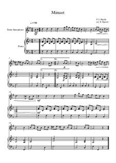 Minuet in F Major: Para saxofone tenor e piano by Joseph Haydn