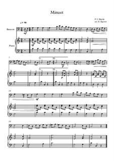 Minuet in F Major: para fagote e piano by Joseph Haydn