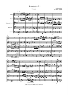 Symphony No.9 in C Major 'The Great', D.944: Fantasie, for wind ensemble by Franz Schubert