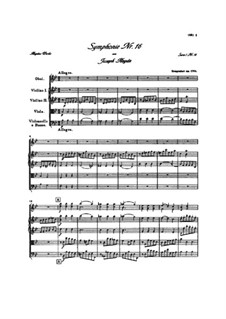 Symphony No.16 in B Flat Major, Hob.I/16: partitura completa by Joseph Haydn