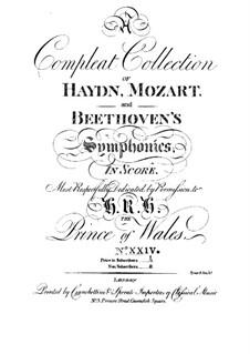 Symphony No.75 in D Major, Hob.I/75: Partitura completa by Joseph Haydn