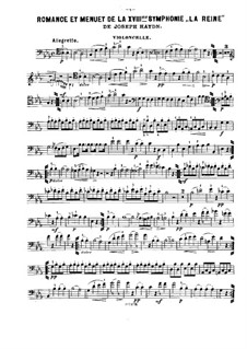 Symphony No.85 in B Flat Major 'The Queen', Hob.I/85: Movements II-III, for violin, cello and piano – cello part by Joseph Haydn