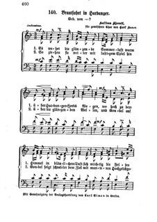 Brudefærden i Hardanger, HK 38: Partitura vocal by Halfdan Kjerulf