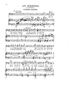 Six Songs, Op.15: No.4 Summer Sadness by Halfdan Kjerulf