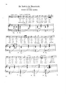 Six Songs, Op.15: No.6 Night on the Fjord by Halfdan Kjerulf