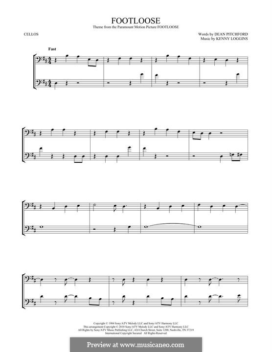 Footloose: para dois violoncelo by Kenny Loggins