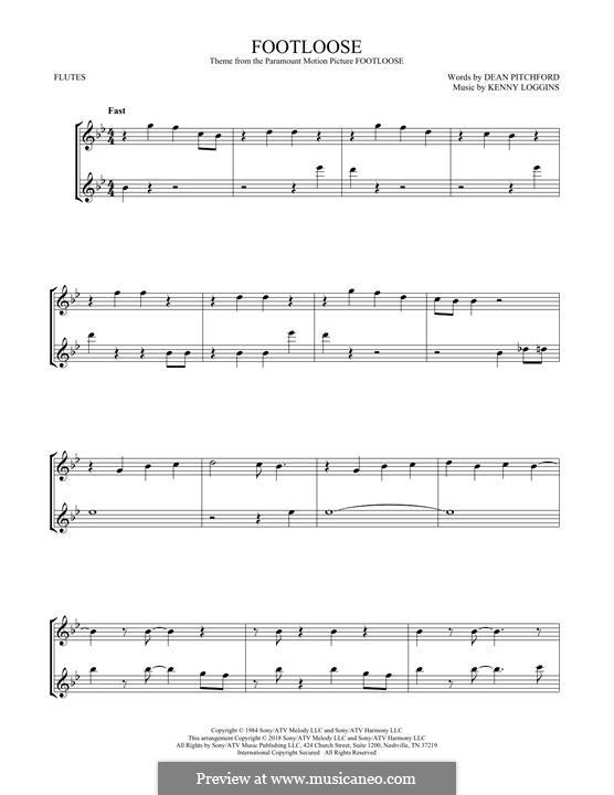 Footloose: para duas flautas by Kenny Loggins
