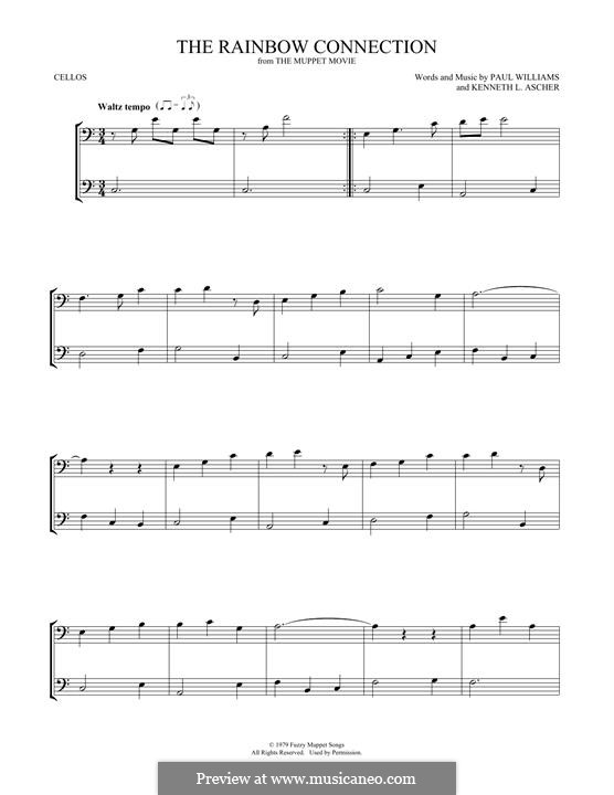 The Rainbow Connection (Kermit the Frog): para dois violoncelo by Paul H. Williams, Kenneth L. Ascher