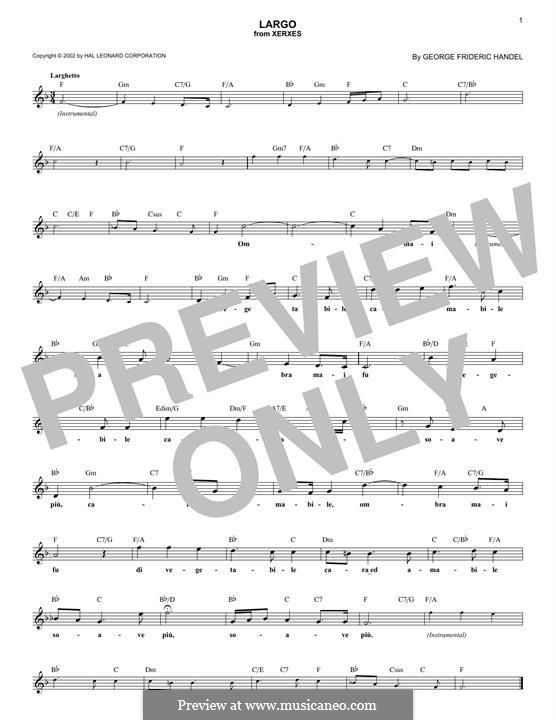 Largo: para teclado by Georg Friedrich Händel