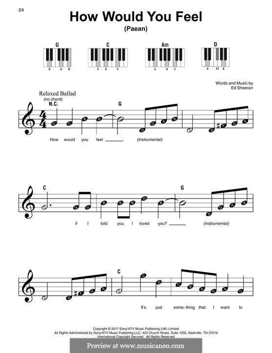 How Would You Feel (Paean): Para Piano by Ed Sheeran