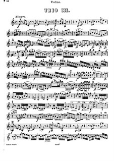 Piano Trio No.43 in C Major, Hob.XV/27: parte do violino by Joseph Haydn