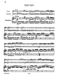Piano Trio No.19 in F Major, Hob.XV/6: Partitura completa by Joseph Haydn