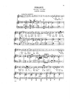 Six French Romances, Op.9: No.2 Romantica by Halfdan Kjerulf