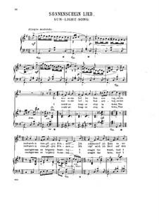 Eight Norwegian Tunes, Op.6: No.5 Sunlight Song by Halfdan Kjerulf