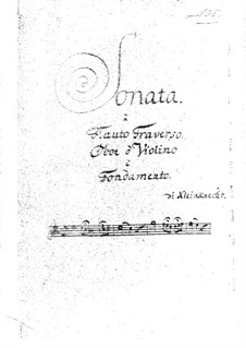 Sonata for Flute, Oboe (or Violin) and Basso Continuo: Sonata for Flute, Oboe (or Violin) and Basso Continuo by Jakob Friedrich Kleinknecht