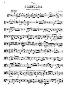Serenade in D Major for Flute, Violin and Viola, Op.25: parte viola by Ludwig van Beethoven