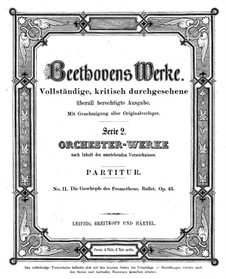 The Creatures of Prometheus, Op.43: partitura completa by Ludwig van Beethoven