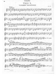 Trio for Violin, Cello and Piano No.10, Op.44: parte do violino by Ludwig van Beethoven