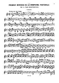 Movement I. Awakening of Happy Feelings on Arrival in the Countryside: versão para trio de piano  - parte violinos by Ludwig van Beethoven