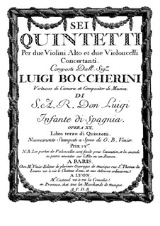 String Quintets, Op.13: Quintet No.1 in E Flat Major – violin II part, G.277 by Luigi Boccherini