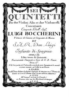 String Quintets, Op.13: Quintet No.5 in A Major – violin I part, G.281 by Luigi Boccherini