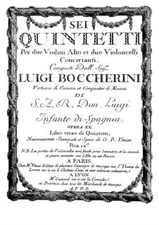 String Quintets, Op.13: Quintet No.5 in A Major – viola part, G.281 by Luigi Boccherini