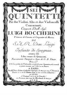 String Quintets, Op.13: Quintet No.5 in A Major – cello I part, G.281 by Luigi Boccherini