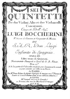 String Quintets, Op.13: Quintet No.6 in E Major – cello II Part, G.282 by Luigi Boccherini