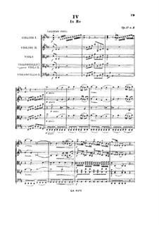 String Quartets, Op.39: Quintet No.3 in D Major, G.339 by Luigi Boccherini