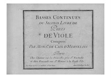 Pieces for Viola da gamba and Basso Continuo: Book II – basso continuo part by Louis de Caix d'Hervelois