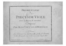 Pieces for Viola da gamba and Basso Continuo: Book I – viola da gamba part by Louis de Caix d'Hervelois