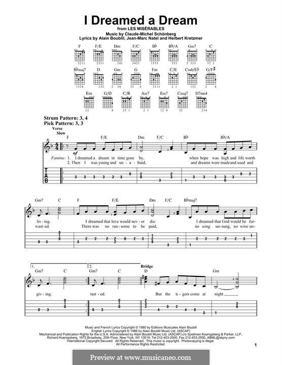 I Dreamed a Dream: Para Guitarra by Claude-Michel Schönberg