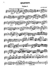 String Quartet No.10 in E Flat Major 'Slavonic', B.92 Op.51: partes by Antonín Dvořák