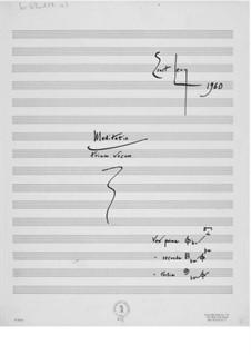 Meditatio trium vocum: partitura completa by Ernst Levy
