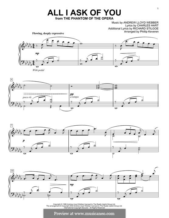 All I Ask of You: Para Piano by Andrew Lloyd Webber
