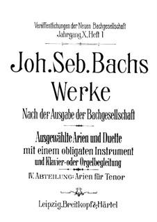 Ich bin ein guter Hirt, BWV 85: For tenor, violin (or viola) and piano – viola part by Johann Sebastian Bach