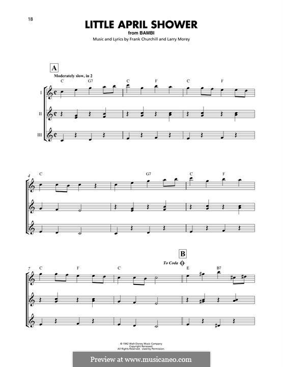 Little April Shower (from Bambi): para ukulele by Frank Churchill