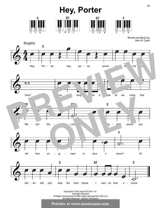Hey, Porter: Para Piano by Johnny Cash