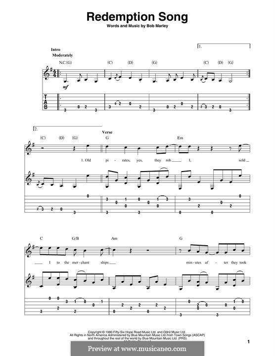 Redemption Song: Para Guitarra by Bob Marley