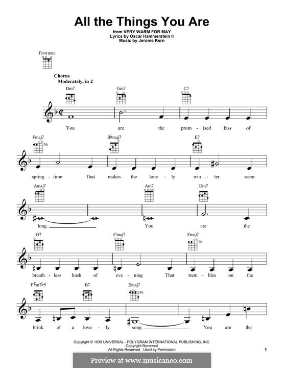 Instrumental version: para ukulele by Jerome Kern