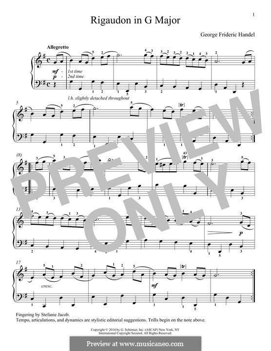 Rigaudon: Rigaudon by Georg Friedrich Händel