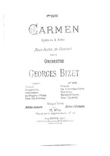 First Suite: Partitura completa by Georges Bizet
