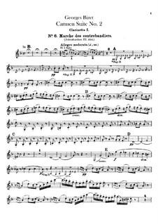 Second Suite: parte clarinetas by Georges Bizet