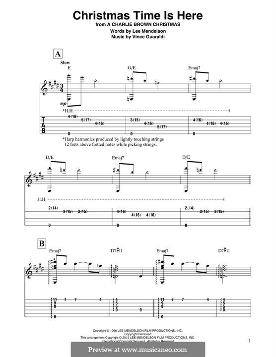 Christmas Time is Here: Para Guitarra by Vince Guaraldi