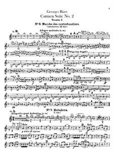 Second Suite: parte trompetas by Georges Bizet